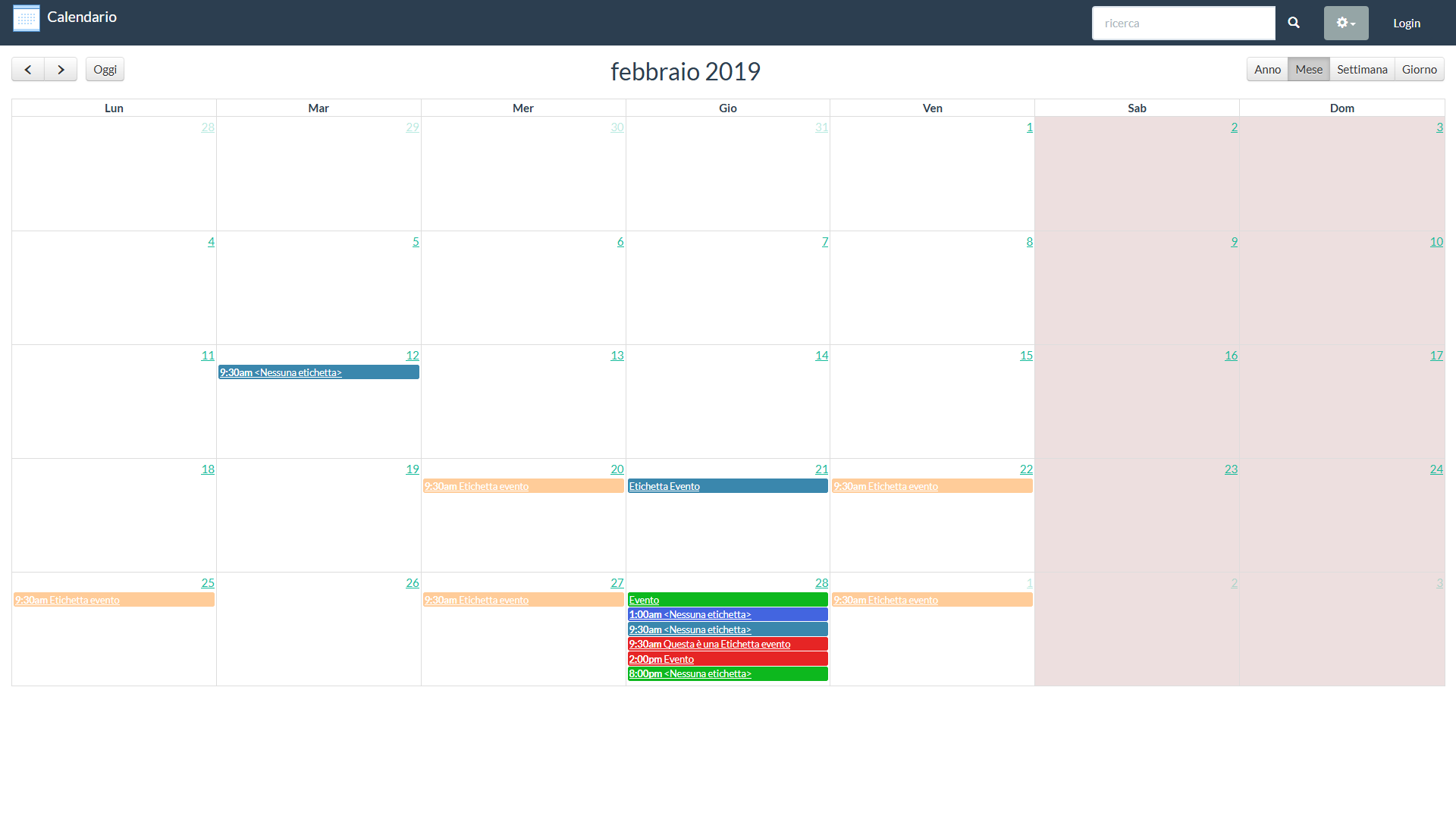 Calendario Appuntamenti Condiviso.Calendario Online Condiviso Per La Gestione Eventi Ideale